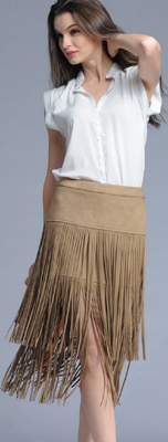 2015-new-Women-suede-leatherette-Fringe-Skirt-Tassel-Khaki-Female-kilt-jupe-revival-Saias-Midi-fitness