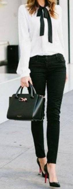 Cómo llevar jeans para ir a la oficina 7