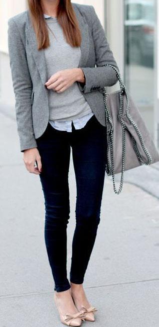 Cómo llevar jeans para ir a la oficina 4