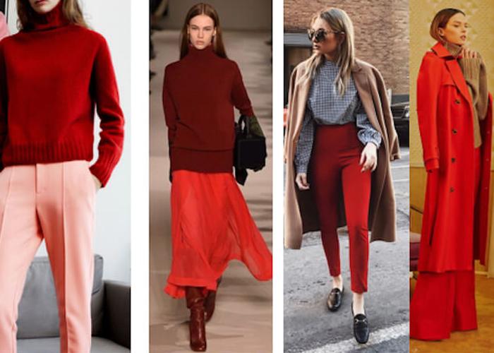 Consejos para llevar outfits en color rojo 3