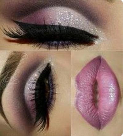 Estilos de maquillaje utilizando el tono rosa 2