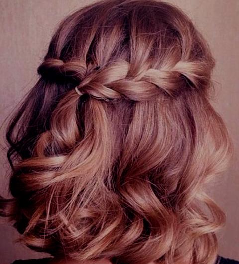 Trenzas para cabello semi recogido