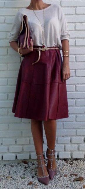 Las mejores combinaciones para faldas midi 3