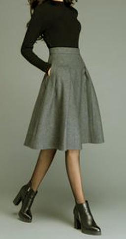 Las mejores combinaciones para faldas midi 2