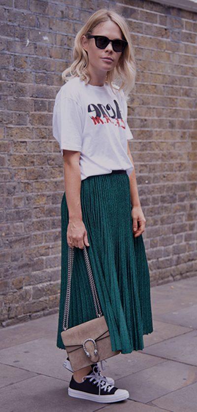 Las mejores combinaciones para faldas midi 1