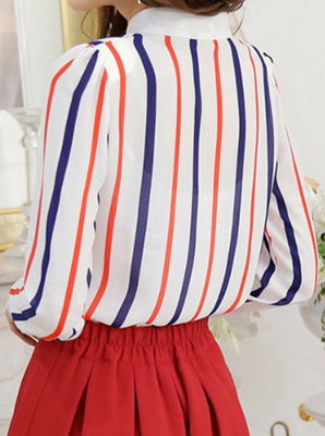 MS62397W-women-fashion-spring-chiffon-striped-shirt