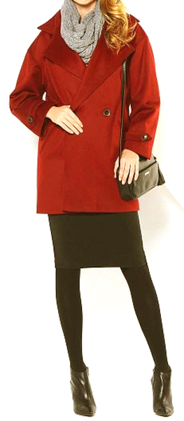 Maneras de combinar abrigos de color rojo 10