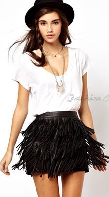 Summer-2015-Women-Suede-Leatherette-Black-Fringe-Skirt-Tassel-Female-Saias-Midi-Fitness-Faldas-Skirt-Apparel