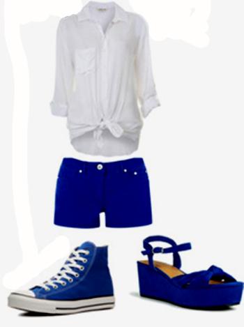 combinar prendas azules