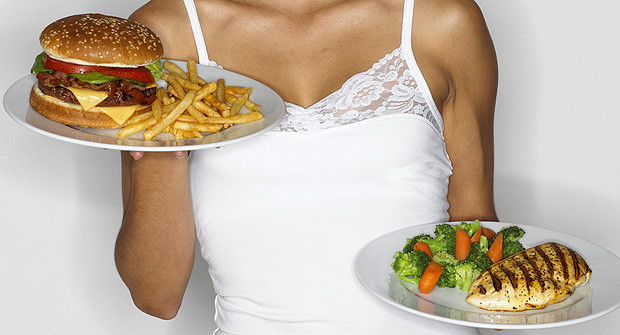 comida-chatarra-comida-saludable