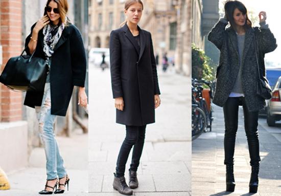 como combinar un abrigo oversize