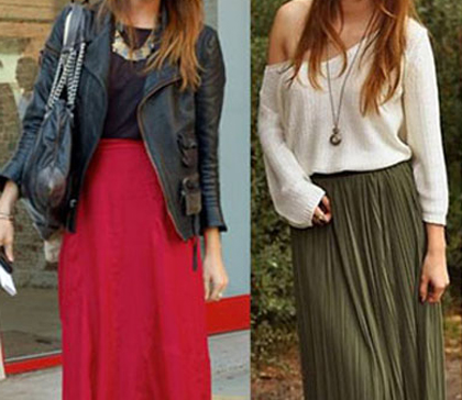 como lograr diferentes looks con faldas y polleras
