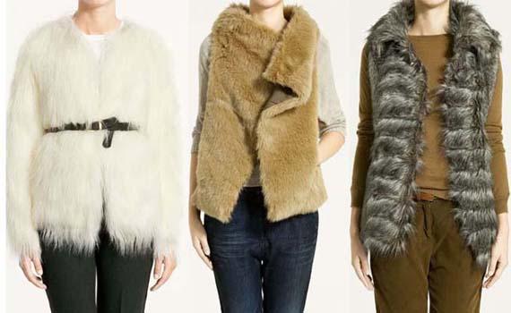 como se combinan los abrigos de pieles sintéticas o ecológicas