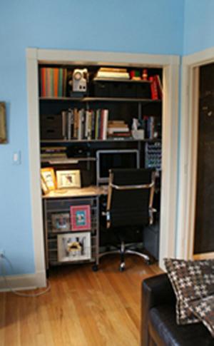 escritorio dieñado en placard