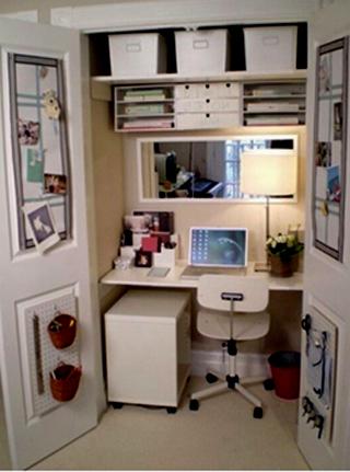 Maneras de diseñar un escritorio en un placard 1