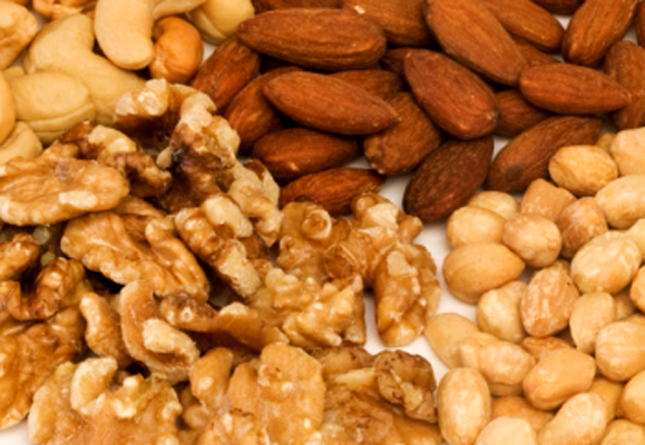Piles of nuts