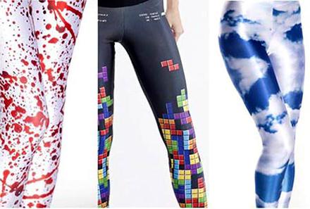 maneras de llevar leggings gráficas